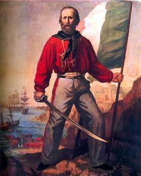 Czerwone koszule oddziałów Garibaldiego utrwaliły ewolucjonistyczną wymowę czerwieni. Paradoksalnie, żołnierze stosowali taki ubiór, ponieważ mieli dostęp jedynie do bluz rzeźników z Buenos Aires (zdj. Wikipedia.pl)