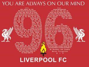 """Niezwykła symbolika. 15 kwietnia 1989 roku w Sheffield miała miejsce największa tragedia w historii angielskiego futbolu. Podczas meczu półfinału Pucharu Anglii pomiędzy Liverpoolem a Nottingham Forrest zawaliła się trybuna zajmowana przez fanów """"The Reds"""". Zginęło 96 osób. (fot. irishblogs.ie)"""