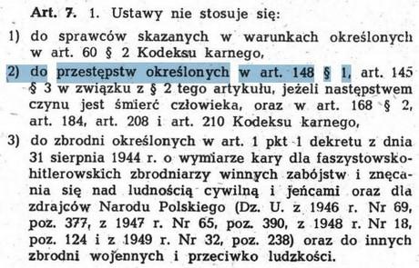 Źródło: Ustawa o amnestii z 1989 roku
