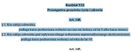Źródło: Kodeks karny obowiązujący w latach 1969-1998