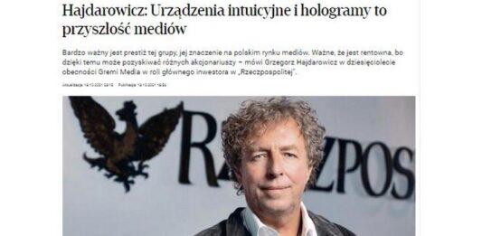 Grzegorz Hajdarowicz o chipach